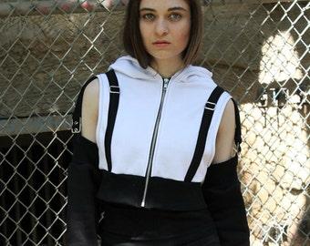 Tifa Lockheart Final Fantasy VII 7 Cosplay Costume Hoodie Cropped Jacket