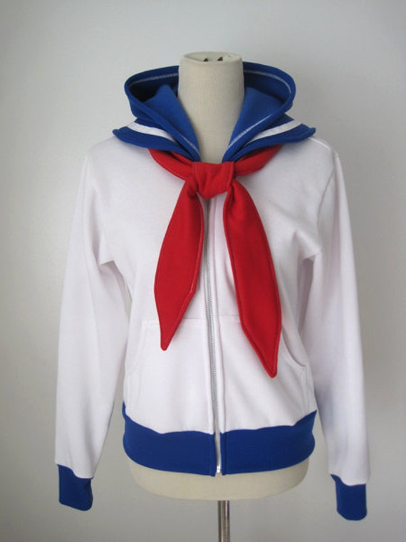 Sailor Moon Seifuku Uniform Suit Usagi Tsukino Outfit Cosplay Costume Hoodie Jacket JTu26