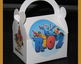 Rio 2 party favor boxes set of 19 half price clearance sale, Rio 2 birthday favor box, Rio 2 gift favor box