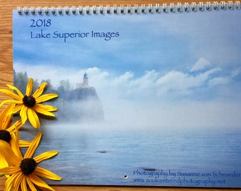 Wall Calendar 2018, Lake Superior Photos, Nature Photography, Wisconsin, Minnesota, Stunning Landscapes, Christmas Gift, Wall Art, New Year