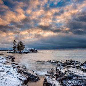 Nature Photography Ice Healing Art Tettegouche State Park Lake Superior North Shore Minnesota Blue Sky Winter Landscape Frozen Lake