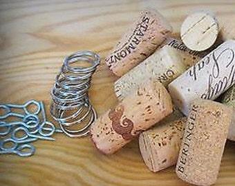 DIY Key Chain Kit! Inc. Wine Corks/eye screws/split rings. Unique Wedding Favors