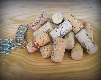 Do it Yourself DIY Key Chain Kit! Inc. Wine Corks/eye screws/split rings. Unique Wedding Favors