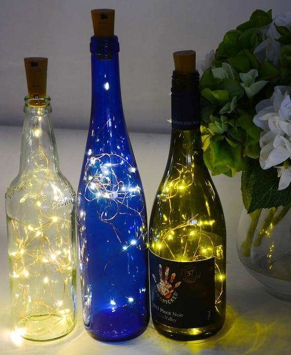 Wine Bottle Lights White LED Cork Shaped Starry String