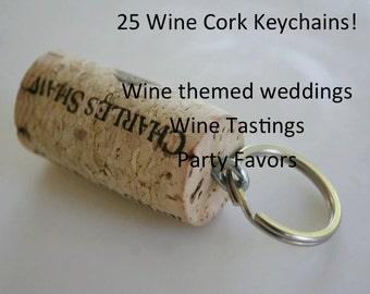 Wine Cork Keychain 25, Wine Decor, Wine Cork Crafts, Wine Keychain, Wine Decor, Wine Gift