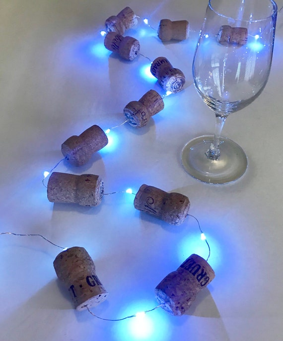 Christmas Lights Wine Cork Champagne Garland String Lights Christmas Tree Decor Christmas Decoration Wine Gift Wine Themed Gift