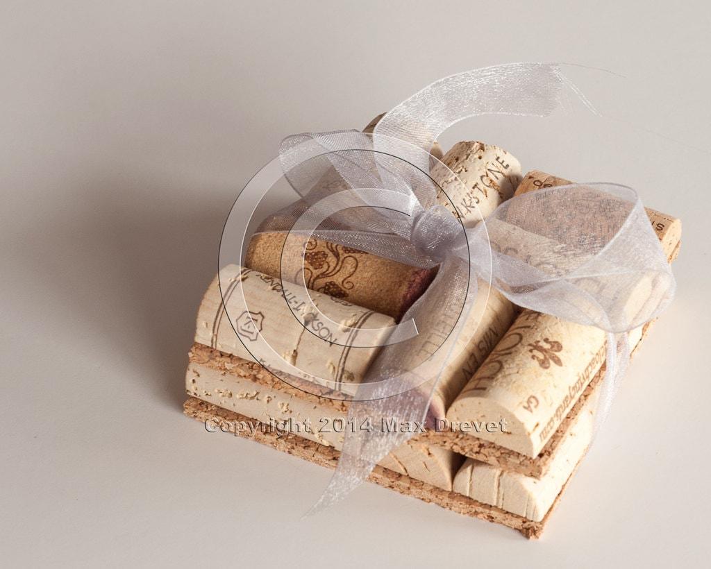 Craft Wedding Gifts: Wedding Gift Wine Cork Coasters Set Of 2 Wine Cork Crafts