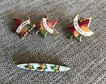 Canadian Maple Leaf Pins