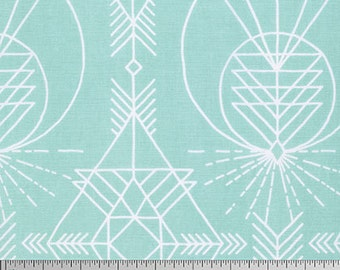 OOP Joel Dewberry PWJD143 Modernist Pure Plaid Emerald Geometric Free Spirit Designer Quilting 18 BTHY Half Yard Quilt Sewing Cotton Fabric