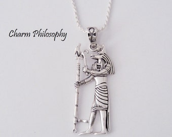 Egyptian Anubis Necklace - 925 Sterling Silver Jewelry - God of the Future Pendant