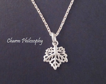 d28162662b Maple Leaf Necklace - Small Canada Charm Jewelry - 925 Sterling Silver  Jewelry - Everyday Necklace