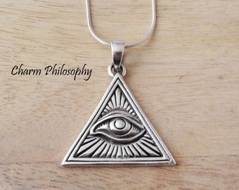 Pride Great Seal Of The United States Of America Usa Emblem Eye Of Providence Charm Antique Silver Plated Jewelry For Gift Jewelry Sets & More