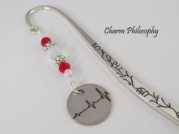 Birthday Gift. Tibetan Silver Bookmark with Clear Glass Beads /& TEDDY BEAR