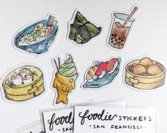 Food Travels Stickers - San Francisco