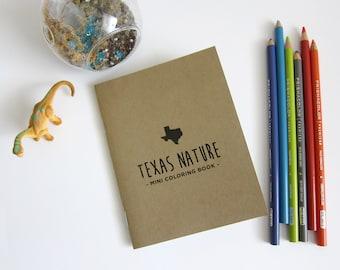 Texas Nature - Mini Coloring Book