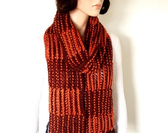 Crochet Winter Scarf/ Gentlemens scarf/ Handmade Unisex scarf/ Winter Fashion scarf/ Dual colored scarf/ Birthday Gift/ Holiday Gift
