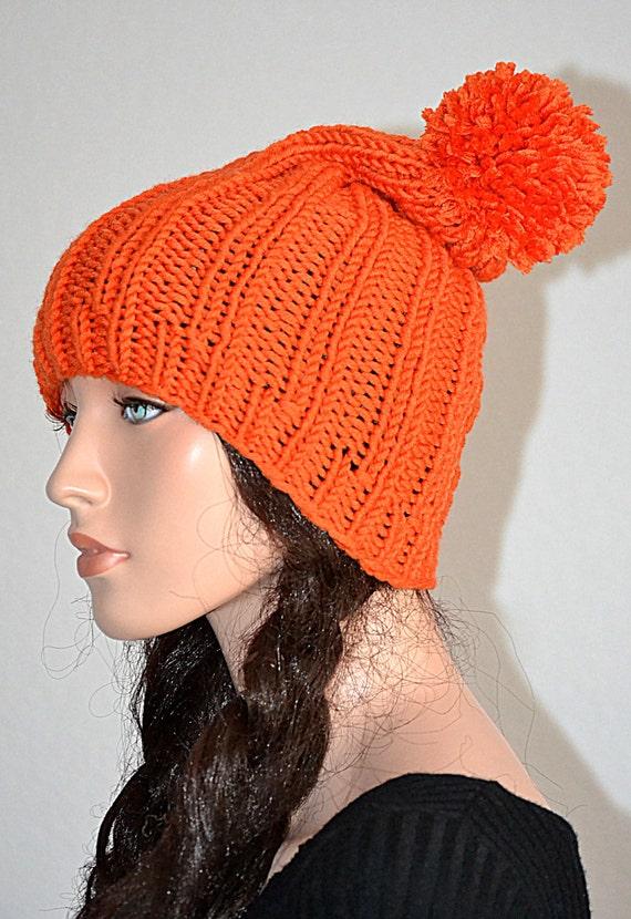 5115d04f73205 Orange Knit Beanie  Knitted Orange Beanie  Winter Fashion