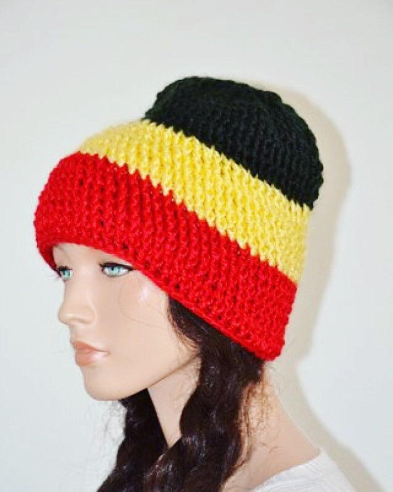 e46d265ceec82 Uganda Beanie Hat  Black Yellow Red Beanie Hat  Pan African