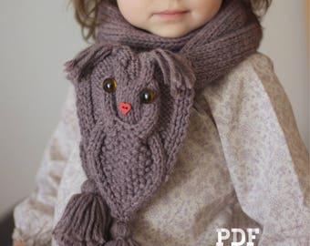 OWL WAYS Scarf Knitting Pattern