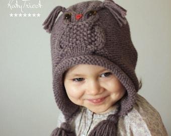 Patron de tricot bonnet Hibou OWL WAYS (tailles  Tout Petit, Enfant, Adulte) a915fa61f63