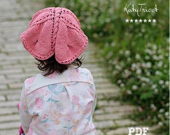 Butterfly Kerchief Knitting Pattern (Toddler, Child, Adult sizes)
