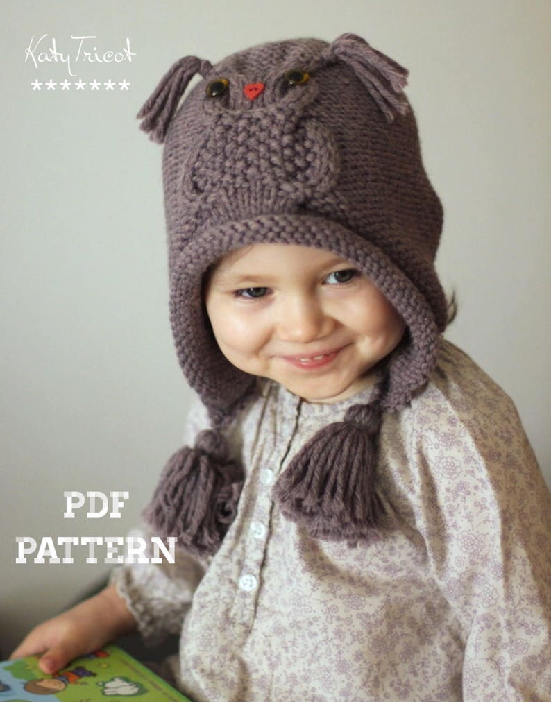 acecabde0f2 Patron de tricot bonnet Hibou OWL WAYS tailles  Tout Petit