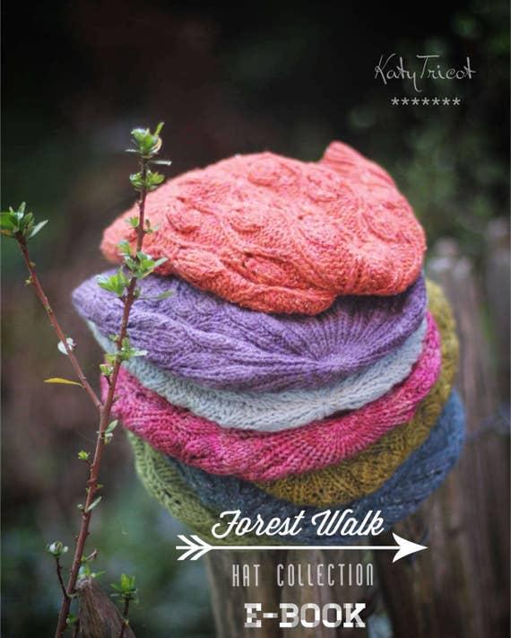 Knitting Pattern E Book Forest Walk 3 Hat Patterns Toddler Etsy