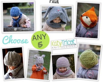 YOU choose ANY 5 PATTERNS KatyTricot