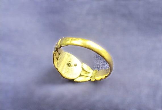 Victorian Era Turquoise Ring, Antique Turquoise C… - image 6