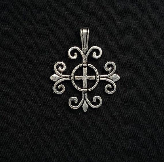 10 Fleur Charms Fleur Pendentifs argent antique 13 mm