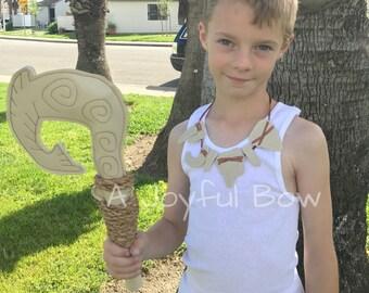 Maui hook and necklace set, maui dress up, moana dress up, moana party, boys moana party
