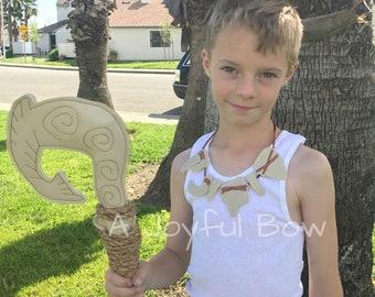Maui hook and necklace set, maui dress up, moana dress up, moana party, boys moana party, dress up clothes