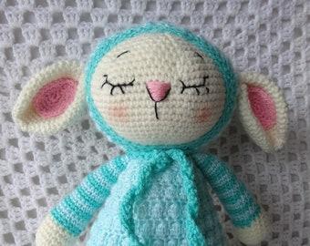 Lamb, READY TO POST, Lamb Softie, crochet toy, amigurumi, baby gift, baby shower