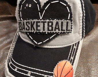 Basketball Sport lover glitter bling baseball hat 1a7668fb5953