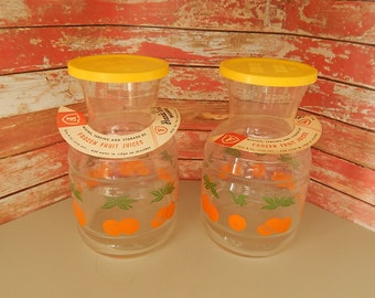 Juice Carafes (2) by Federal Glass Company - One Quart