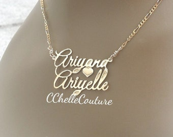 Two Name Necklace*Mothers Day Gift