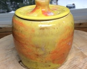Sun Cookie Jar, Dog Treat Jar, Dog Biscuit Jar, Kitchen Canister, Cookie Jar, Pottery, Handmade