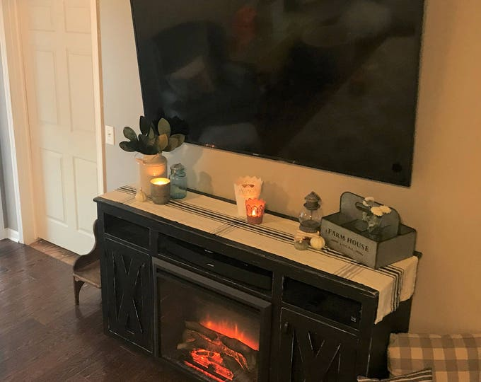 Farmhouse Fireplace Entertainment Console - FREE SHIPPING