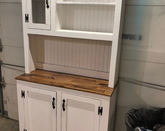 Finnley II Stepback Farmhouse Hutch - FREE SHIPPING