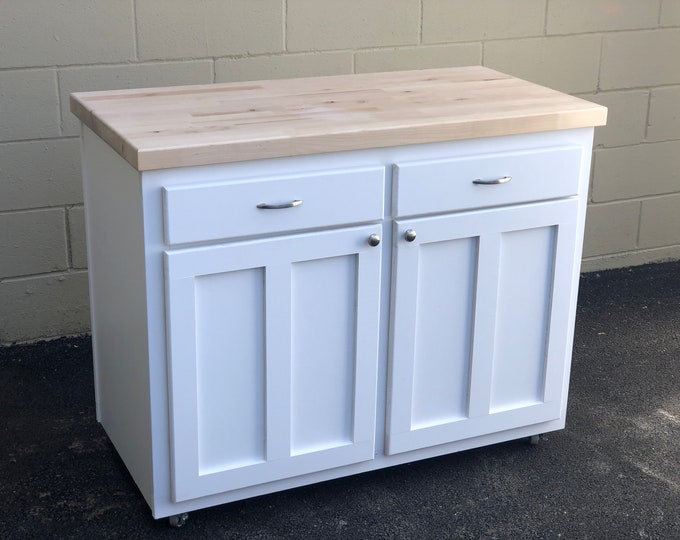 Accent Butcher Block Island - FREE SHIPPING