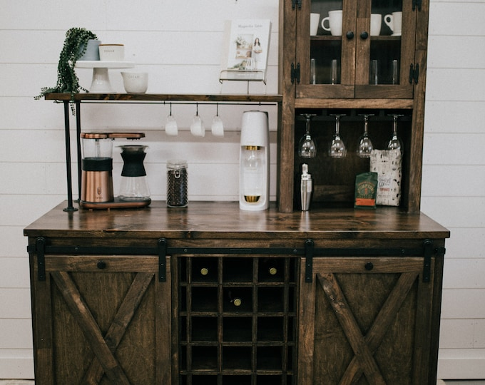 Custom Beverage Bar- FREE SHIPPING
