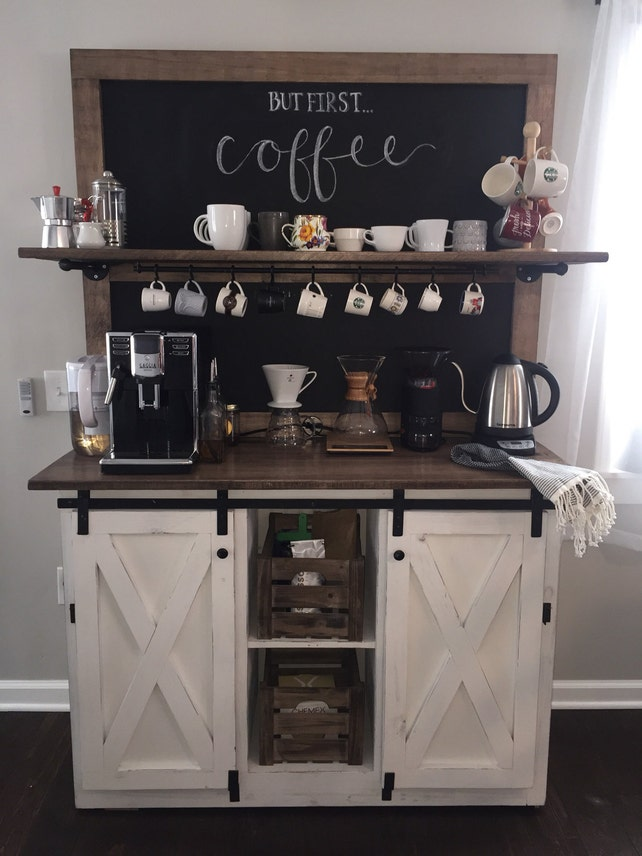 Weston Chalkboard Coffee Bar Buffet FREE SHIPPING | Etsy