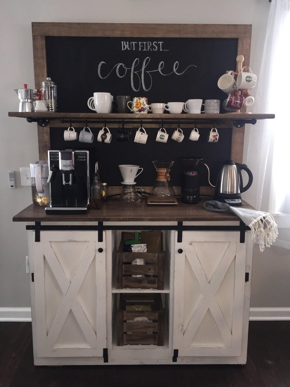 Coffee Bar Kitchen: Weston Chalkboard Coffee Bar Buffet FREE SHIPPING