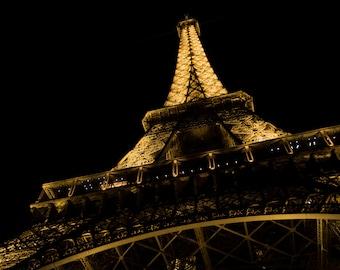 Eiffel Tower photography print, Wall art print, Cityscape photography print, Night in Paris, Paris decor, Travel decor, Paris, France