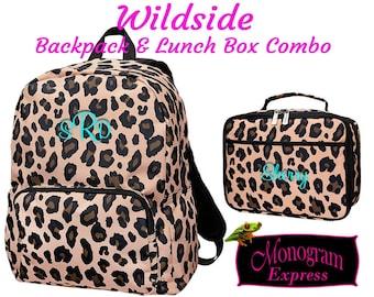 Wildside Backpack Lunch Box Combination | Leopard Lunch Bag | Leopard Bookbag | Girls Back to School
