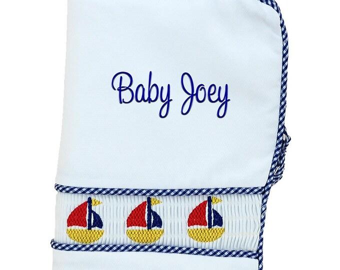 Baby Shower Gift   Personalized Photo Album   Baby Memory Book   Custom Baby Book   Monogrammed Baby Book   Infants Photo Album Sailboat