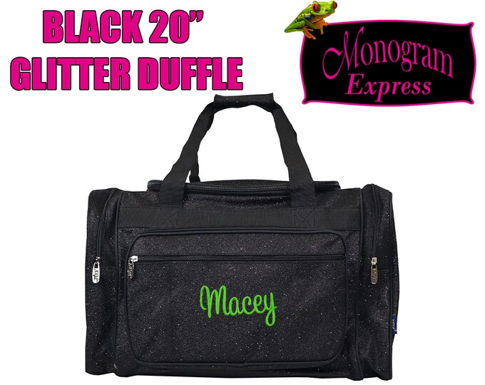 """Personalized Glitter Duffle 