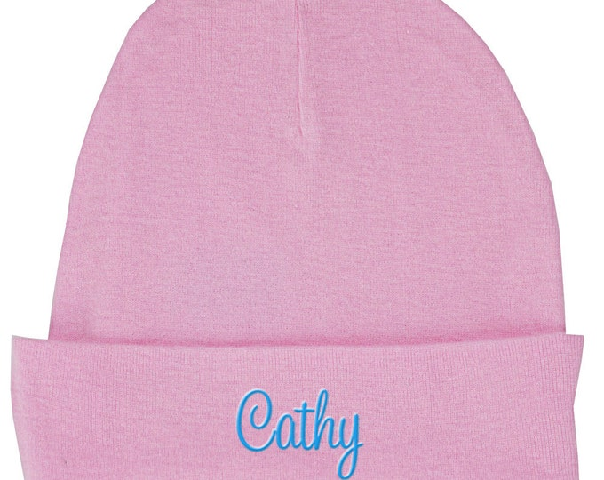 Infant Hat   Baby Hat   Baby Knit Hat   Personalized Baby Hat   Monogrammed Baby Hats   Personalized Infant Hat   Pink Knitted Baby Hat