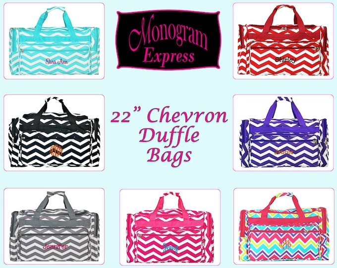 0a4179d0af Monogrammed Duffle Bag Personalized Duffle Bag Overnight Duffle Bag Duffel  Bag Personalized Customized Duffel Bag Chevron