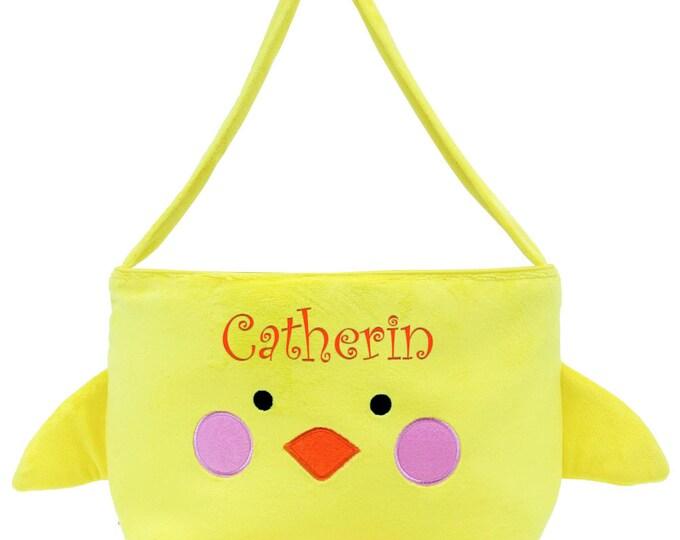 Monogrammed Easter Basket | Yellow Easter Basket | Baby Easter Basket | Personalized Easter Basket | Customized Easter Basket | Chick Easter
